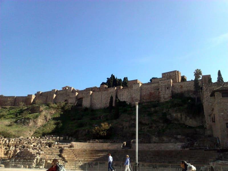 Крепость Алькасаба в Малаге