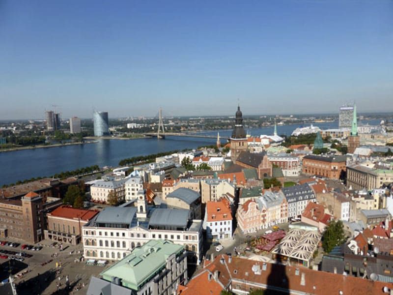 Вид на старый город Риги