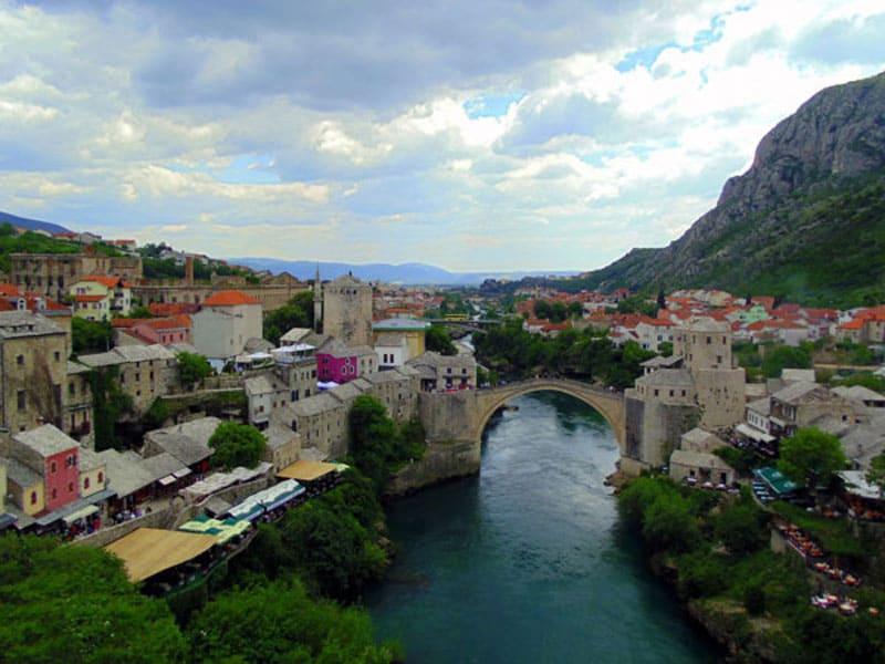 Город Мостар и старый мост