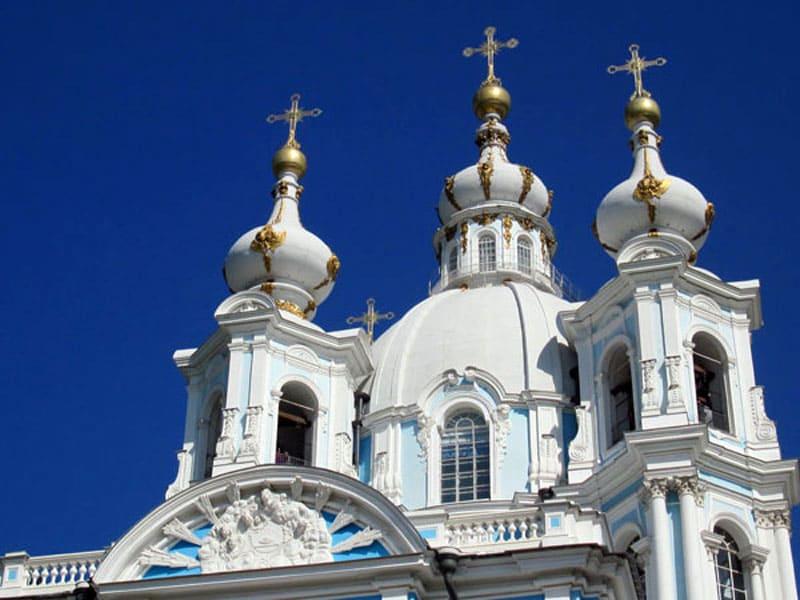 Купола Смольного собора