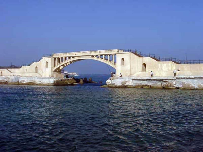 Вид на море из города Александрия (Египет)